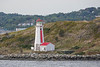 Lighthouse at the entrance to the Port of Halifax Harbor, Nova Scotia, Canada.