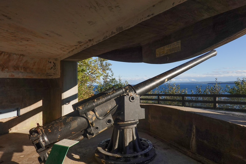 Coastal Defensive Gun in Forillion National Park, Gaspe, Quebec, Canada.