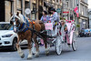 Horse Carriage on the Streets of Montreal, Quebec, Canada.