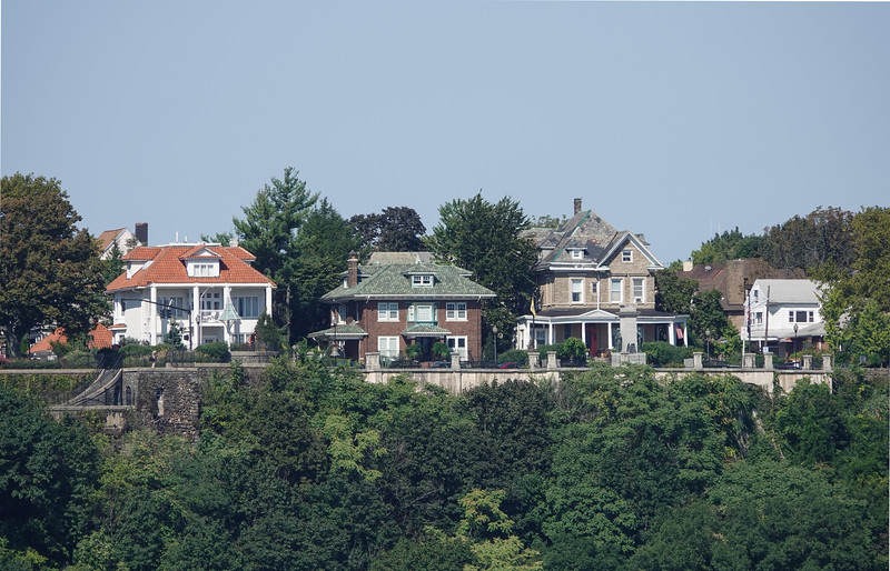 Homes overlooking NY Harbor. AKA, the Rich and Famous.
