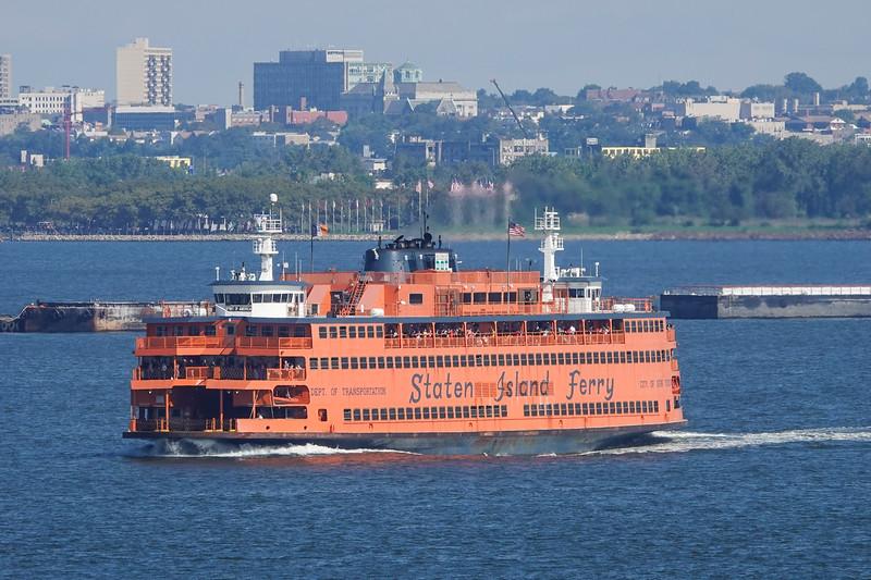 Staten Island Ferry, NY Harbor, NY, USA.