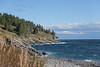 The St. Lawrence Gulf off the Coast of Forillion National Park, Gaspe, Quebec, Canada.