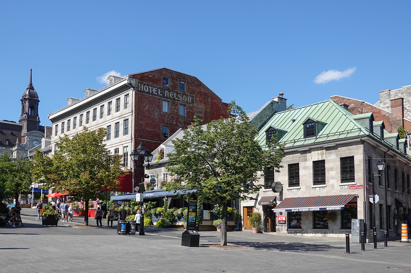 Streets of Montreal in the Historic Waterfront area, Quebec, Canada.