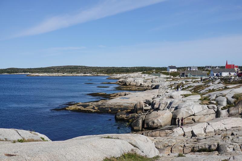 Coastline at Peggy's Cove, Nova Scotia, Canada.