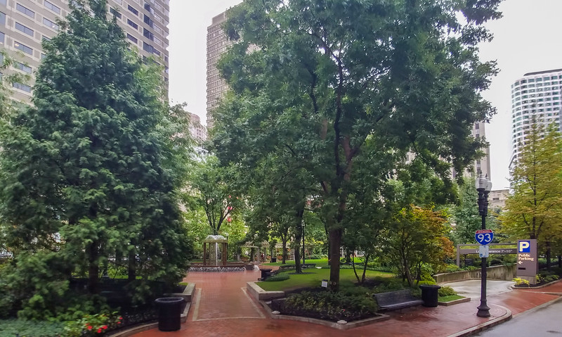 Park erected over underground parking, Streets of Boston, Mass.