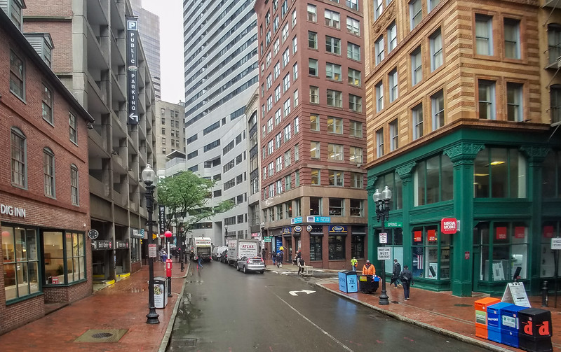 Streets of Boston, Massachusetts.