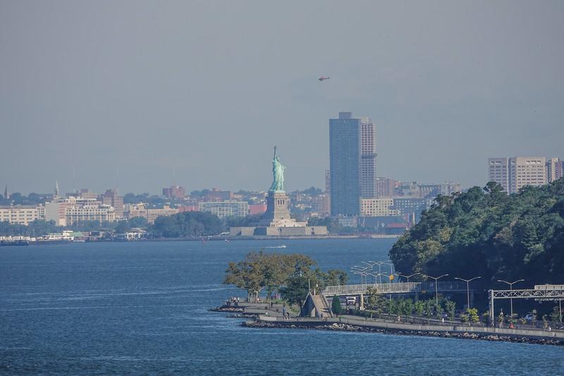 First look at the Lady, entering NY Harbor, NY, USA.