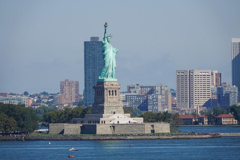 Statue of Liberty in NYC Harbor, NY.