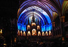 The AURA Immersive Experience at the Basilique Notre-Dame de Montreal, Quebec, Canada.