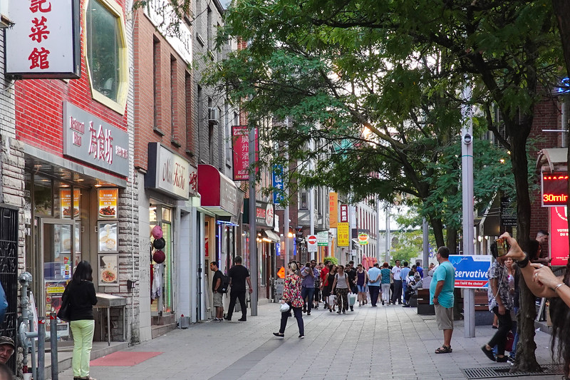 Inside Chinatown, Montreal, Quebec, Canada.