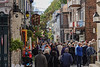 Shopping the streets of Quebec's Old City, Quebec, Canada.