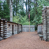 Inside Fort Clatsop, OR.