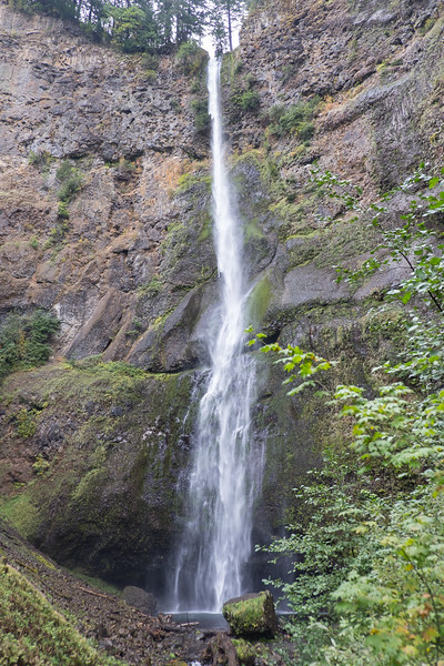 Upper Multnomah Falls on the OR side of the Columbia River.