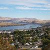 The Columbia River from the Wasco County Historical Museum.