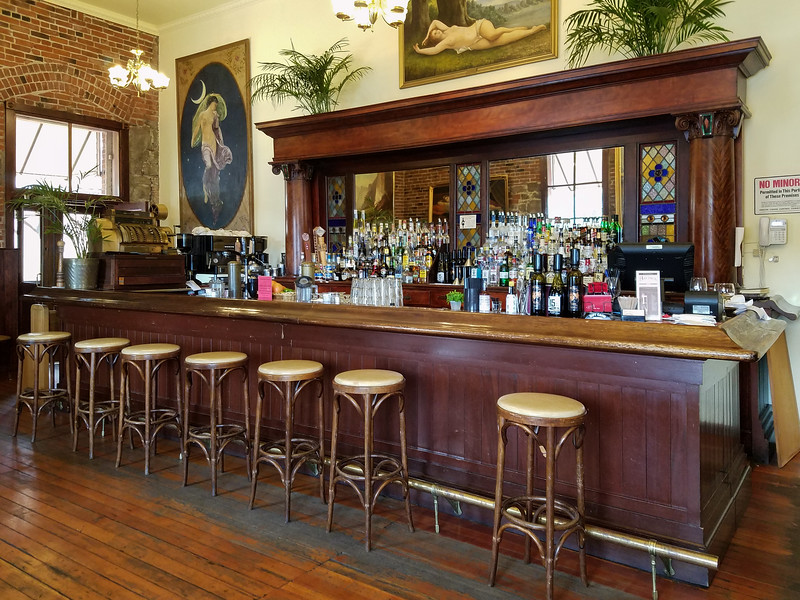 Inside the Baldwin Saloon in the Dalles.