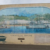 The Umatilla House building mural in the Dalles.