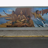 Building Mural of a Sahaptin Medicine Man in the Dalles.