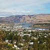 The Columbia River from the Wasco Historical Museum.
