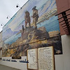 Lewis and Clark Expedition Commemorative building mural in the Dalles.