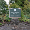 Walking up the trail to Multnomah Falls.