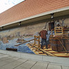 Building mural for the Decision at the Dalles.