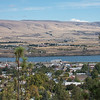 The American Pride from an observation point in the hills of the Dalles.