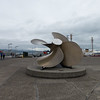 Giant propeller outside the Astoria Maritime Museum.