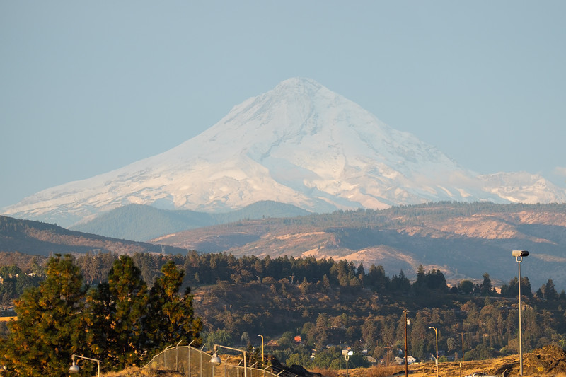 Mount Hood visible from the front of the American Pride.