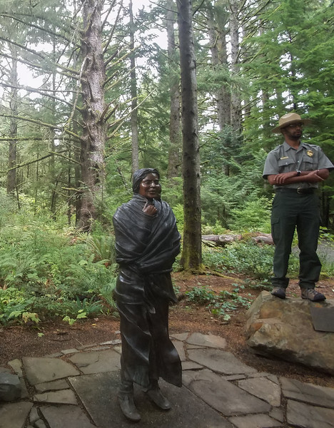 Ranger and Indian Princess at Fort Clatsop, OR.