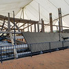 The armored USS Cairo's remains on display in Vickesburg, Mississippi.