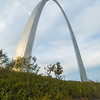 Walking up to the Arch in Saint Louis, Missouri.