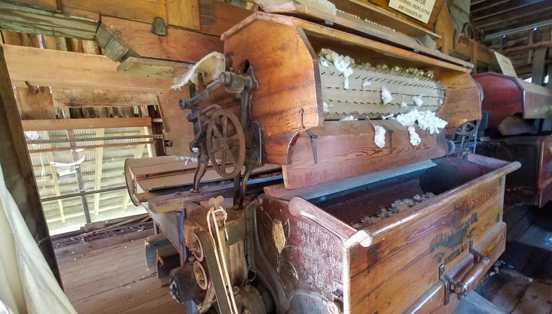 Workings of an 1884 Steam Cotton Gin in Natchez, Mississippi.