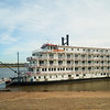 The Queen of the Mississippi docked in Saint Louis, Missouri.