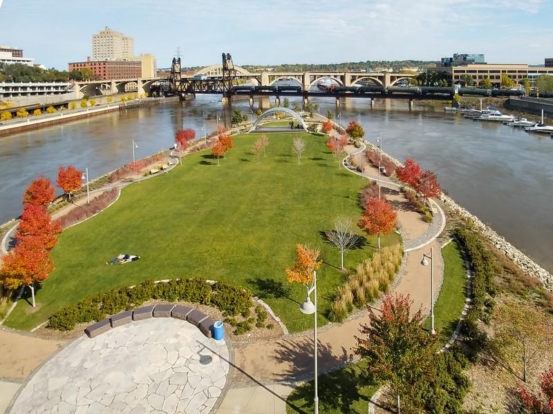 Fall colors in Saint Paul, Minnesota.