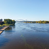 Looking up the Mississippi at La Crosse, Wisconsin.