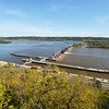 The Mississippi River and locks seen from Eagle Point Park in Dubuque, Iowa.