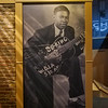 The early man himself, B B King early image at the museum in Greenville, Mississippi.