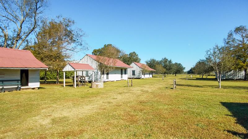 Slave cabins on the Frogmore Plantation in Natchez, Mississippi.