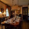 Dining room in Rosedown Plantation, Baton Rouge, Louisiana.