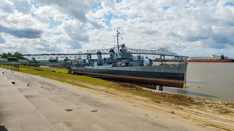 Uniquely dry docked WW2 Battleship converted to a Casino in Baton Rouge, Louisiana.