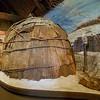 Black Hawk bark hut on display at the Black Hawk Historic Museum, Davenport, Iowa.