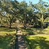 View from the upstairs balcony, Rosedown Plantation, Baton Rouge, Louisiana.