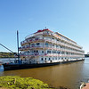 The Queen of the Mississippi docked in Dubuque, Iowa.
