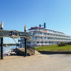 The Queen of the Mississippi docked in Hannibal, Missouri.