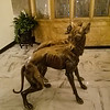 Dog statues at the Peabody Hotel in Memphis, Tennessee.