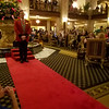 Preparing for the Duck March at the Peabody Hotel in Memphis, Tennessee.
