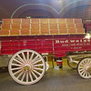 Antique Budweiser beer wagon on display at the Home of Budweiser.