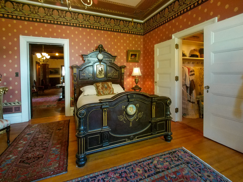 Bedroom in the Rockcliffe Mansion, Hannibal, Missouri.