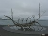 Viking Ship statue overlooking the Harbor