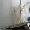 "Dale made this model schooner. We visited the rescued  ""Evelina M Goulart"" on the Essex River where 4,000 <br /> fishing schooners were built"